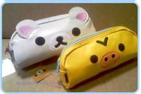Cheap 6PCS Kawaii RILAKKUMA BEAR + Yellow Chicken Bag & Case Pouch ; Pen Pencil BAG Case ; COIN Case Storage Holder