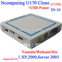 Wholesale Thin client U170 China ncomputing clone NC RDP USB thin clients with usb support webcam microphone usb printer youtube etc