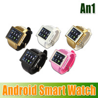 Wholesale New AN1 Smart Watch Mobile Phone Capacitive Touch Screen MTK6515 Dual Core MB RAM GB ROM GPS WIFI MP Spy Camera churchill