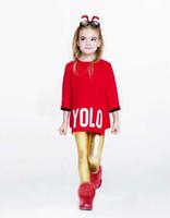 Wholesale EMS FREE Baby Girls Pure Color Letter Cardigan Cashmere Pashm Long Sweater Four Colors pullover Children Autumn Wear SZ0094