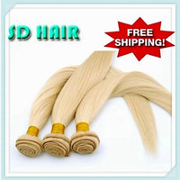 Cheap DX-292 Brazilian hair straignt color 613 blond color Hair extension hair weft!Top grade 100% virgin human hair hair extensions hair weft!