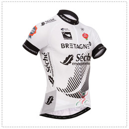 2014 TOUR DE FRANCE Bretagne-Seche TEAM BLACK WHITE ONLY SHORT SLEEVE ROPA CICLISMO SHIRT CYCLING JERSEY CYCLING WEAR SIZE:XS-4XL