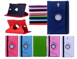 Wholesale 360 Rotating PU Leather stand Case for Ipad mini Retina Samsung galaxy tab Lite tab S tablet pc leather case