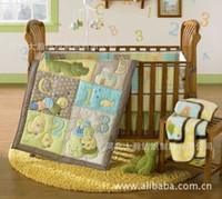 Cheap baby bedding sets Best anmial embroidery