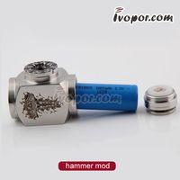 Cheap Hammer E pipe Mod Kit mini E pipe Mod Mechanical Electronical Cigarette with V tank PROTANK Botton Heating Atomizer cheap Hammer pipe
