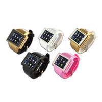 Wholesale AN1 Smart Watch Mobile Phone Capacitive Touch Screen MTK6515 Dual Core MB RAM GB ROM GPS WIFI MP Spy Camera seven eleven