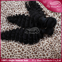 Cheap Unprocessed Brazilian Virgin Remy Human Hair Weaves;3.5oz per bundles;Deep Wave Hair-Extensions;8''-30''Natural Color,Tight,Neat and No shed