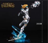 Ezreal PVC Action Figures & Model The Prodigal Explorer Pulsefire Ezreal Figures LOL Champions EZ Action Figures 30cm League of Legends Game Accessories New Q Mini Dolls Toys