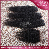 Wholesale Grade A Indian Malaysian Peruvian Brazilian Virgin Hair Kinky Curly Human Hair Weave More Loose Extensions with a lace top closure