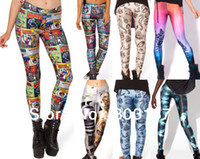 Cheap 2014 Black Milk Style LEGGINGS-LIMITED Pirate Galaxy Digital Print Custom Set Pius Size Pants For Women Drop Ship Supernova Sale