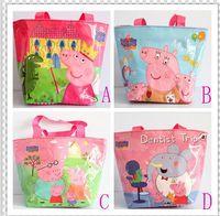 Cheap Brand New peppa pig kids bags waterproof children bags girls handbags peppa pig bags 4 designs mix PU free shipping