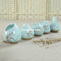 Wholesale mini small vase ceramic vase porcelain tea creative vase hand painted porcelain table Decoration