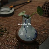 Wholesale Small vase ceramic vase porcelain vase mini Creative Decoration hand painted porcelain tea table shipping