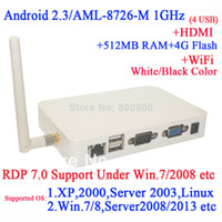 Wholesale Android thin client N680W with WiFi RDP mlogic AML M GHz Samsung mb RAM GB TF Card P