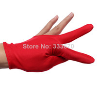 Wholesale 10pcs Snooker Gloves Purple Red Billiards Cue Shooters Billiard Table Three Finger Left Right Hand