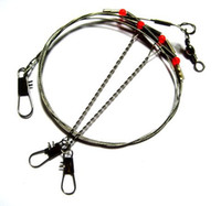 Wholesale Fedex CM Arms Fishing Stainless Steel Rigs Wire Leaders with Swivel Snap