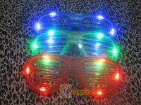 Wholesale High Quality LED Fashion Shutter Sunglasses color Glow Light Glasses CLUB