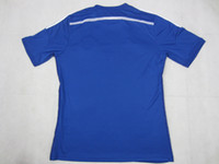 Wholesale Chelsea home blue jersey top quality embroidery thailand version football shirt Mix order