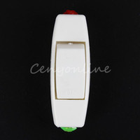 Wholesale 5pcs White Inline ON OFF Table Lamp Desk Light Cord Rocker Switch Control A V Suitable For Core Cable