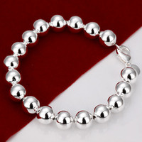 Wholesale Sterling silver MM prayer beads bracelet jewelry Fashion Bracelet Silver Jewelry Christmas gift silver bracelet