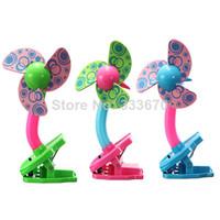 Wholesale Mini Fan Battery Clip Small Fan Summer Baby Stroller Baby Bed Safty Fan Clip Fan