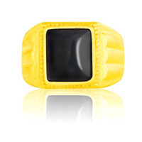 Cheap 20ps fashion Artificial black stones 24k yellow gold plating,good filled ring,gold plated Jewelry,zj151