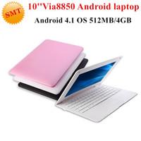 Cheap Cheap 10inch Mini Laptop Notebook Computer webacm 512M 4G Via 8880 Dual Core Android 4.2 netbook laptops
