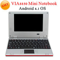 7-7.9'' Android 4.1  Wifi Cheap 7inch Mini laptop Android notebook VIA8850 Android 4.1 Wifi Netbook Laptop 512MB 4GB 1.5GHz+Webcam HDMI