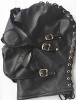 Cheap BDSM Bondage Games Gear Slave Head Hoods Detachable Eye Mouth Mask Fetish Adult Sex Toys