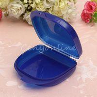 Cheap Convenient Durable 2pcs Blue Dental Orthodontic Retainer Box Case For Mouthguards Biteguards Gumshields Dentures Free Shipping
