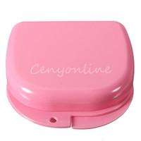 Wholesale Rosy Utility Dental Orthodontic Retainer Box Case For Mouthguards Biteguards Gumshields Dentures Sport Guard