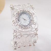 Wholesale Luxury New Fashion Women Nice Crystal Bangle Watch Ladies Cuff Quartz Watch vintage watch women dress watches New Arrive PB