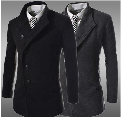 Top Fashion 2014 New Men Autumn- Winter Jacket Casual Trench Coat