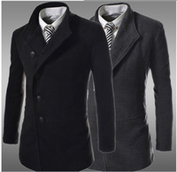Wholesale Top fashion New men autumn winter jacket casual trench coat men long coats amp jackets ourdoors wool amp blends mens clothing