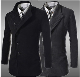 Discount Top Coat Mens | 2017 Mens Black Top Coat on Sale at
