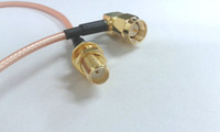 Wholesale SMA right angle male plug to SMA female with nut pigtail RG316 cable CM