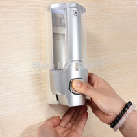 hotel soap - Plating ABS Wall Mounted liquid Soap Sanitizer Ml Bathroom Shower Shampoo Dispenser Box Hotel Household Home Washroom bath