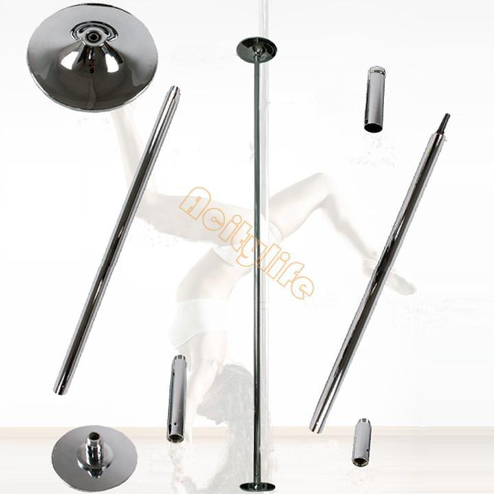 Removable spinnig stripper pole