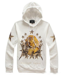 Wholesale New hot selling PHILIPP PLEIN Autumn winter Men s Hoodies amp Sweatshirts Set head tiger printing hoodies