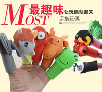 Cheap 10 pcs Finger puppet nursery teaching mom tool for the children to tell stories animals developed brain learns language