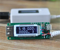 Wholesale 100pcs LCD USB Charger Capacity Current Voltage Tester Meter For phone power bank