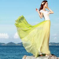 Cheap New 2014 Women Dress Summer Chiffon Ankle-Length Maxi Long Dress Casual Boho Dress b7 SV001221