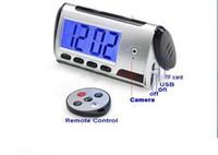 Wholesale Spy Hidden Camera Clock HD Newest Digital Alarm Clock Motion Detector Sound Recorder Digital Video PC With Remote Control