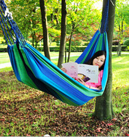 Cheap Free shipping,Outdoor thickening canvas hammock &camping hammock swing casual, Free of charge bag and rope
