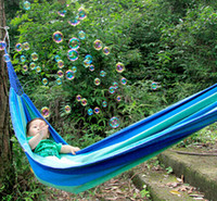 Cheap Freeshipping Camping Hammock Swing Outdoor Thickening Canvas Hammock Casual Single double Person