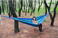 Cheap Freeshipping Camping Hammock 2m*1m Swing Outdoor Thickening Canvas Hammock Casual Single Double Bearing 20pc