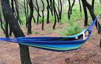 Cheap Whole sale , Freeshipping camping hammock swing outdoor thickening canvas hammock casual single hammock 200*100cm
