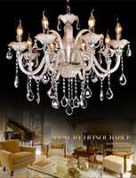 Wholesale 2014 Indoor Lights Modern Brief fashion ceiling lights elegant led bulbs Crystal chandelier Lamp Living room Sitting Room bedroom Size