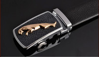Wholesale High Quality First layer of leather Waistband Men s Formal Belt Jaguar Automatic Buckle With Gift Box