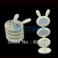 Cheap Lovely White Rabbit Shape USB Folding Up LED Desk Lamp Table lamp Free Shipping 8742